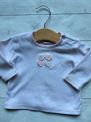 Baby Girls Clothes 3-6 Months - Gorgeous Stripe Heart Top By NEXT 🐹🐹🐹