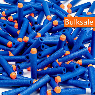 SOFT GUN REFILL Blue BULLETS DARTS ROUND HEAD BLASTERS FOR NERF N-STRIKE TOY