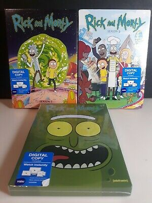 Rick and Morty Complete Season 1, 2 & 3 DVD New Sealed