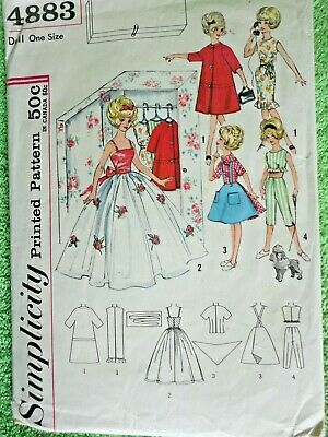 Tammy /& Me Collection 1960/'s #5859 Tammy Doll Dress Pattern