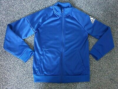 Adidas Blue Tracksuit Top/ Jacket Age 8-9 Years