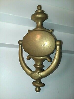 antique, vintage 8.5 in.brass door knocker ,aged comes with two Screws