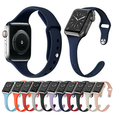 SLIM Silicone Band Strap for iWatch Apple Watch Series 5 4 3 2 1 38/42mm 40/44mm