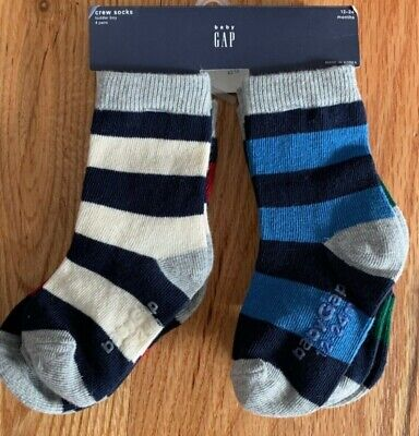 4 Pair Baby Gap Infant Toddler Boys Socks Size 4-5 years FREE SHIPPING NEW