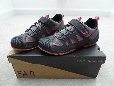 Start-Rite 'Charge' Junior Girl's Grey/Pink Trainers Size 3.5 F Boxed Immaculate
