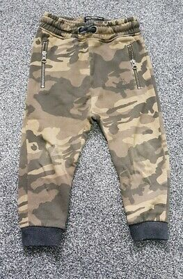 Next Boys Camo Camouflage Trousers Age 3 Years Joggers Khaki