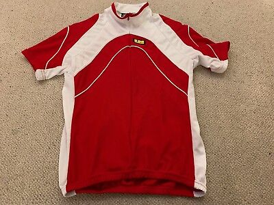 "Inverse girls/boys cycling top jersey in red/white - 32"" chest"
