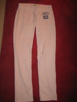 Girls Abercrombie and Fitch Joggers Trousers Pink Size 13-14 (L)