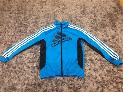 BOYS ADIDAS TRACKSUIT TOP Age 9-10 Years