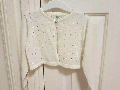 Marks And Spencer M&S Girls Christmas Party Bolero Cardigan Age 18-24 Months