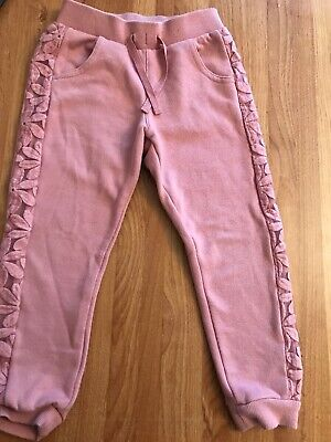 Girls Tracksuit Bottoms Joggers Pink Age 5 Years Matalan