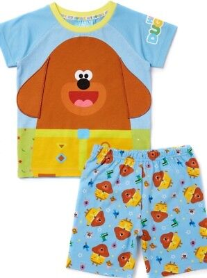 CBeebies Hey Duggee Boys PJ's Pyjamas Sainsburys TU Stick Badges 2-3 Years NEW