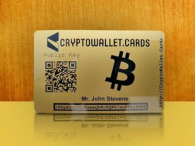 Personalized BTC / BITCOIN Crypto Wallet Card