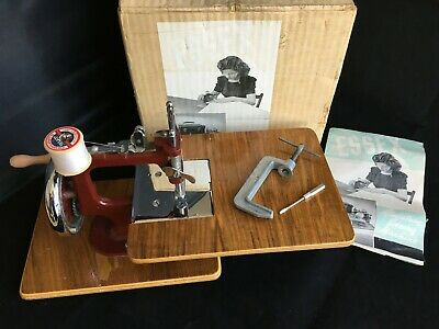 Vintage Essex Child's Miniature Sewing Machine, Original Box & Instructions VGC