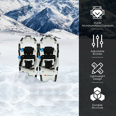 Aluminum All Terrain Snow Shoes with Adjustable Ratchet Bindings & Carrying Bag