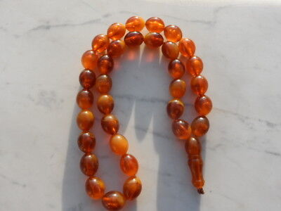 Antique Old Bakelite Catalin Prayer Beads 48 Grams