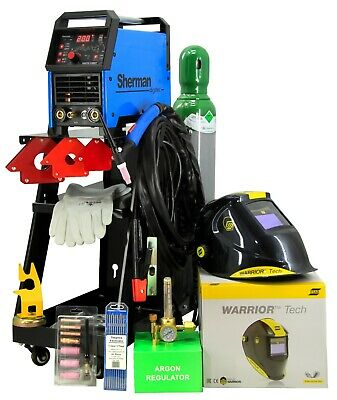SET TIG Welder DC Pulse 200AMP DIGITIG 200 SHERMAN Welding machine MMA HF, LIFT