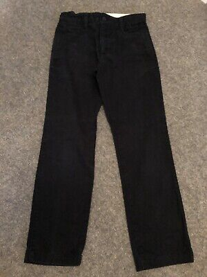 JL13 Gap Kids Black Chino Trousers With Adjustable Waist Age 10 Yrs Regular