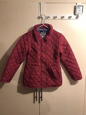 Joules Girls Pink Quilted Jacket Coat Age 7 years 122 cm