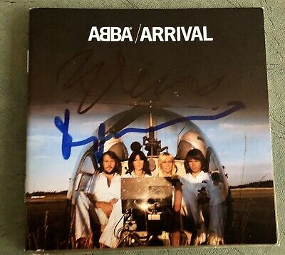 ABBA Benny Andersson & Bjorn Signed Arrival CD Booklet