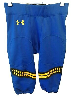 Under Armour Authentic Cropped Baseball Pants Blue Youth Boys Large Regular