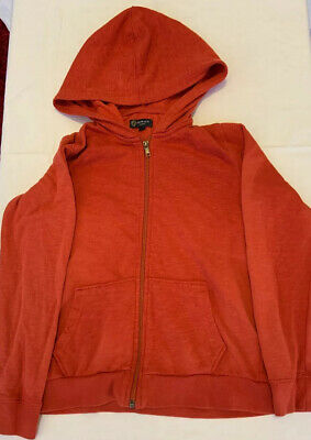 Boy's HOWICK Junior Red Hooded Zipped Top Hoodie. 9-10 Years.