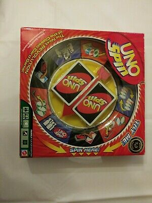 UNO Spin Edition Card Board Game by Mattel 2005 Complete With Instructions