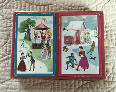 Vintage Hoyle Playing Cards Duel Deck Box - Essmueller Company