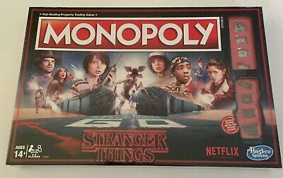 Stranger Things Monopoly board game NEW sealed Upside Down tokens Netflix 80's