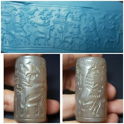 Sassanian very old rare agate historical cylinderseal bead