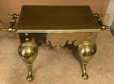 Antique Ornate Solid Brass Fireplace Trivet Or Footman Stool Heavy 27 Pounds