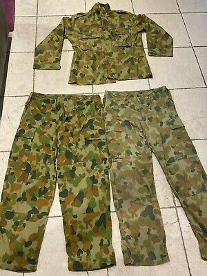 Ex-Army Camouflage Clothing - 2 pairs pants, 1 shirt