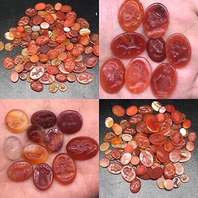 Sale Wonderful 100 Pcs !! Roman Sassanian Ancient Mixed Stones Seals Cabochons