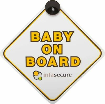InfaSecure Baby On Board Sign, Yellow