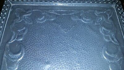 Antique Pewter Covered Art Nouveau Tray decorated edges