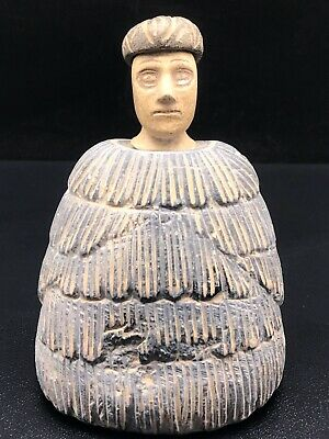 Wonderful Ancient Rare Unique old Bactrian Stone Seated Statue 100 BC