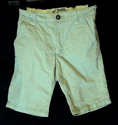 Boys Next Light Grey Chino Cotton Spectacle Pattern Board Shorts Age 7 Years