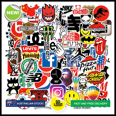 Bulk SKATEBOARD STICKERS Brand Logo Decals Phone Laptop Luggage Skate Car Bomb