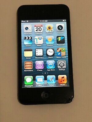 Apple iPod Touch 4th Generation 8GB Black Fair Condition Screen Crack Usable i16