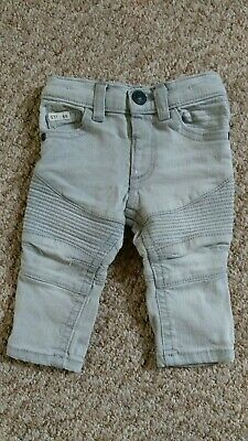 Baby Boys River Island Mini Grey Skinny Jeans 0-3 Months - Textured Trousers