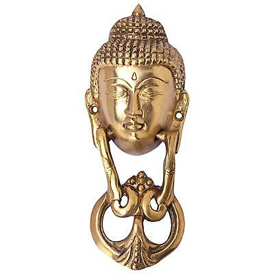 Buddha Door Knocker Buddhism Collectibles Solid Brass gold Tibet Home Decor New