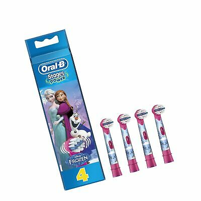Oral-B Genuine Kids Stages Disney Frozen Replacement Pink Toothbrush Heads, R...