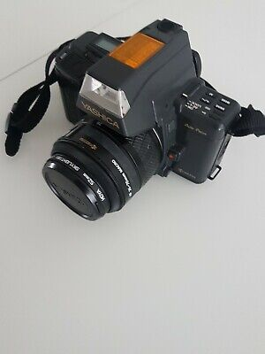 Yashica 230 at with 35-70 lens and 52mm skylight filter.