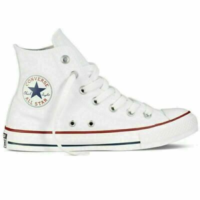 Converse All Star High Hi Tops Trainers Pumps Unisex Chuck Taylor White Colour