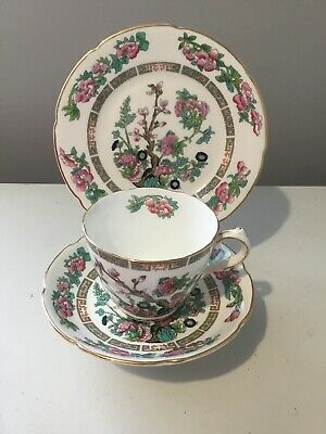 Vintage Royal Grafton Fine Bone China Tea Plate Cup And Saucer Indian Tree