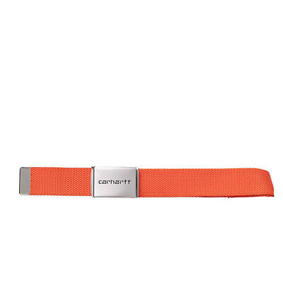Belt Carhartt' Clip Belt Chrome' . Colour Arancio. I019176