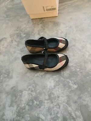 Girls Burberry shoes. With Original Box. UK infant size 7. Eur size 24