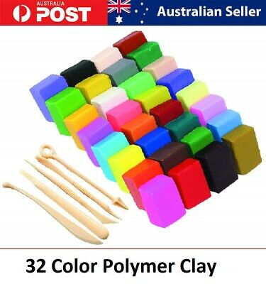 32 Color  Polymer Clay Modelling Moulding Sculpey Fimo Block DIY Toys