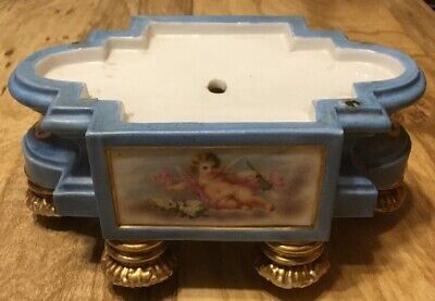 Jacob Petit French Porcelain Stand With Putti Limoges ?