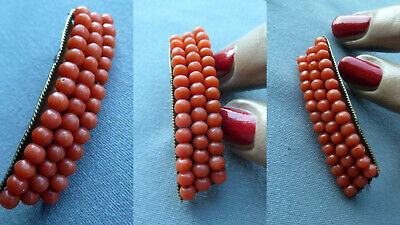 BBUV Art Deco antique real coral brooch Koralle Brosche Damen antik Schmuck RARE